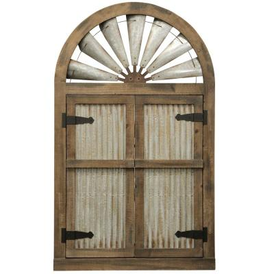 Arched Wood Doors Wall Decor