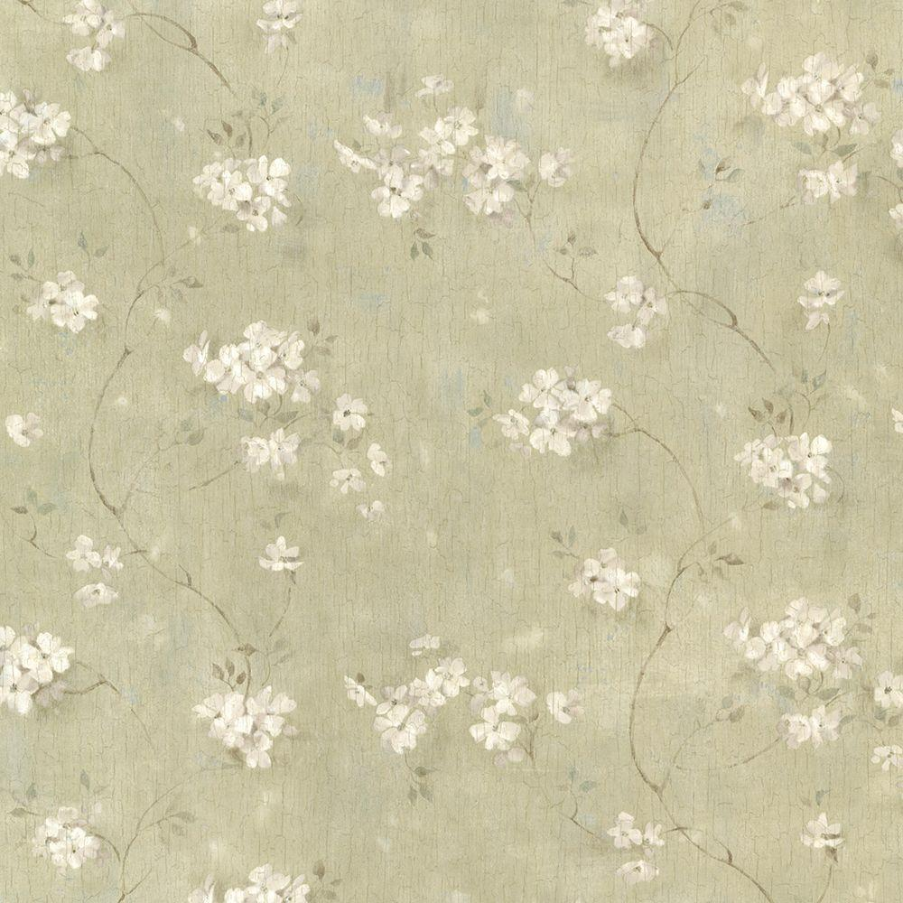 Dixie Green Floral Trail Paper Strippable Roll Wallpaper (Covers 56.4 sq. ft.)