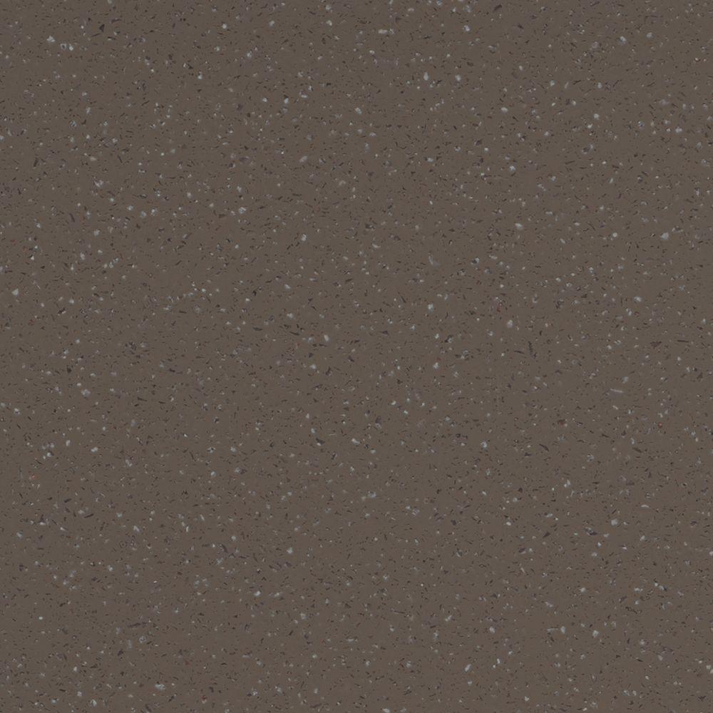 null 2 in. Solid Surface Countertop Sample in Deep Mink
