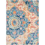 Laurine Orange 8 ft. x 10 ft. Area Rug
