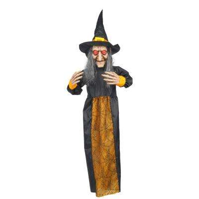 48 in. Hanging Witch with LED Illumination