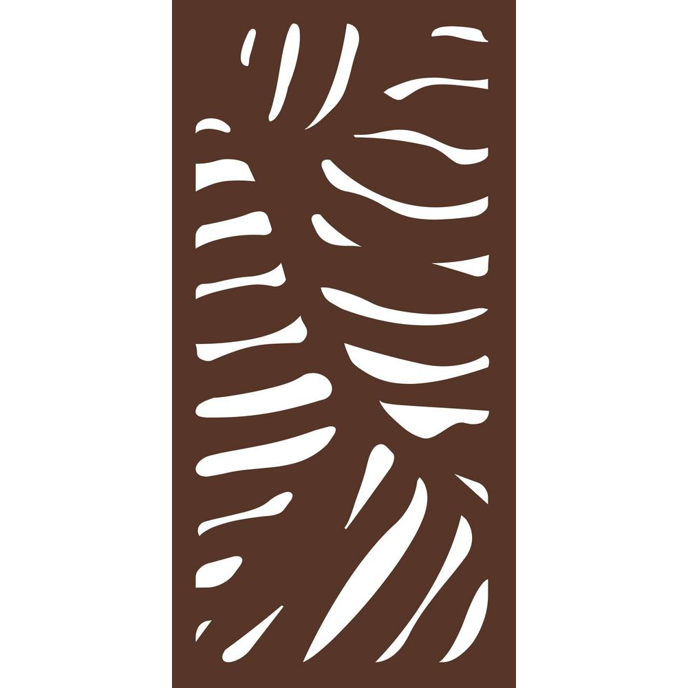 4 ft. x 2 ft. Espresso Brown Modinex Decorative Composite Fence