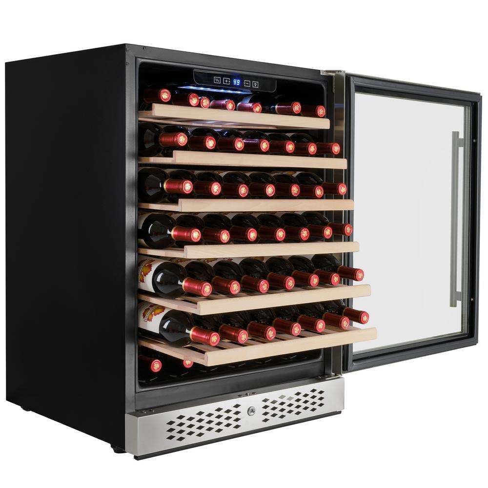 23.5 in. 54-Bottle Built-in Compressor Wine Cooler