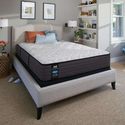 Response Performance 12.5 in. California King Plush Tight Top Mattress Set with 5 in. Low Profile Foundation