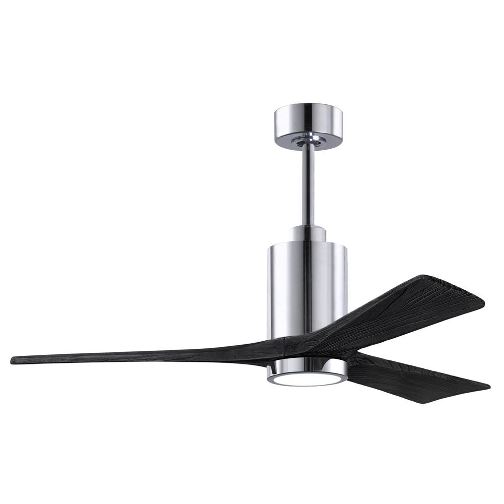 Matthews Fan Company Patricia 3 52 In Integrated Led Polished Chrome Ceiling Fan With Light Kit Pa3 Cr Bk 52 The Home Depot