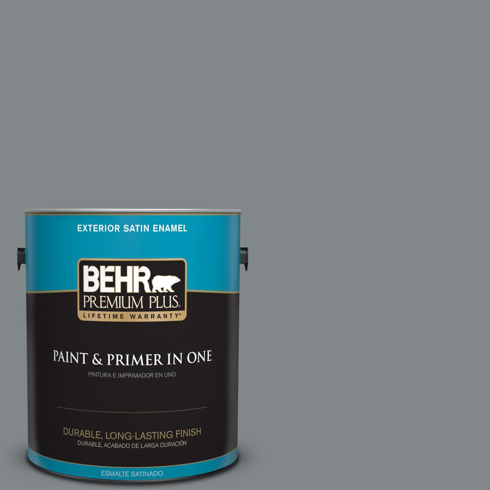 1-gal. #N500-5 Magnetic Gray Satin Enamel Exterior Paint