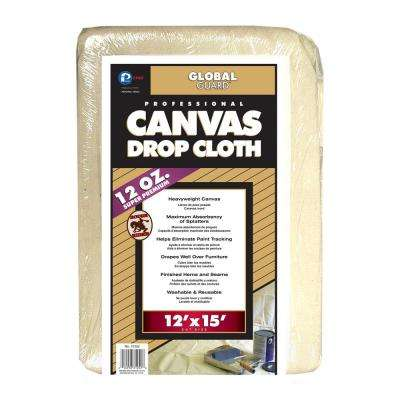 12 ft. x 15 ft. Extra Heavy Weight Canvas Drop Cloth (3-Pack)