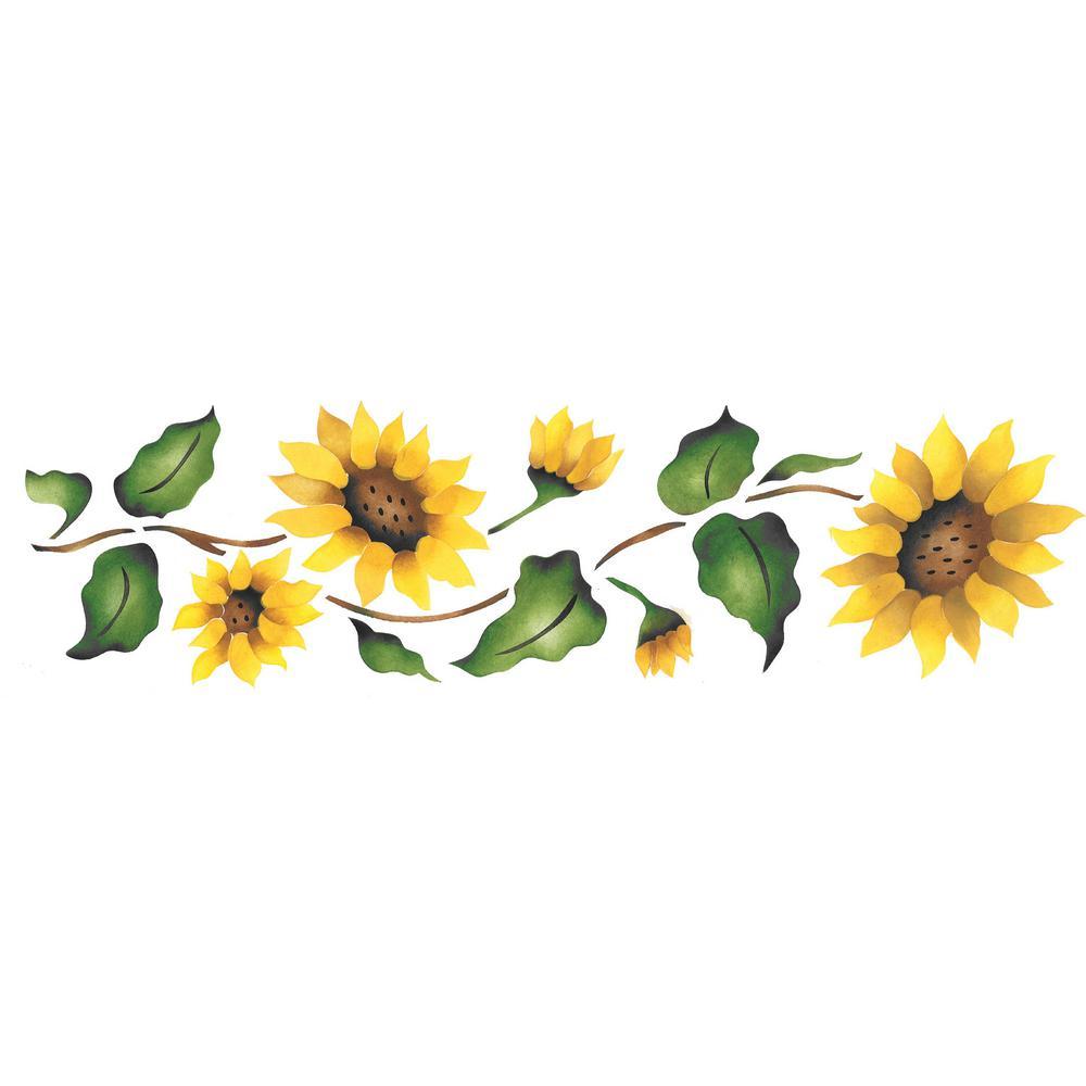 Designer Stencils Sunflower Border Wall Stencil 926 The