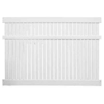 Huntington 6 ft. H x 6 ft. W White Vinyl Semi-Privacy Fence Panel Kit