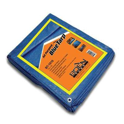 10 ft. x 10 ft. All Purpose Blue Tarp (2-Pack)