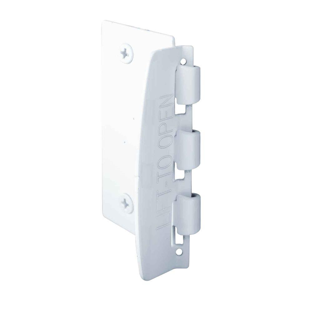 Door Lock Steel Painted White Flip  sc 1 st  The Home Depot & Prime-Line 2-3/4 in. Door Lock Steel Painted White Flip-Action Door ...