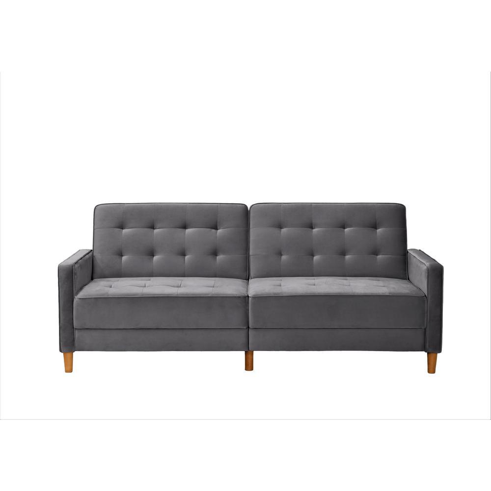 Jonathan Grey Tufted Velvet Sofa Bed Sleeper