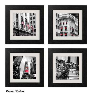 "Four 10 in. x 10 in. ""Red View"" by Neeva Kedem Framed Printed Wall Art"