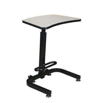 Brody Maple Sit-Stand Desk with One-Touch Height Adjustment