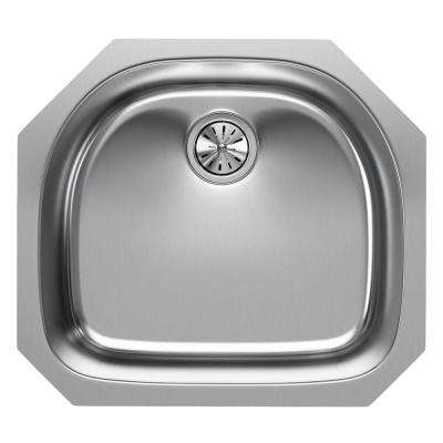 Undermount Stainless Steel 24 in. Single Basin Kitchen Sink
