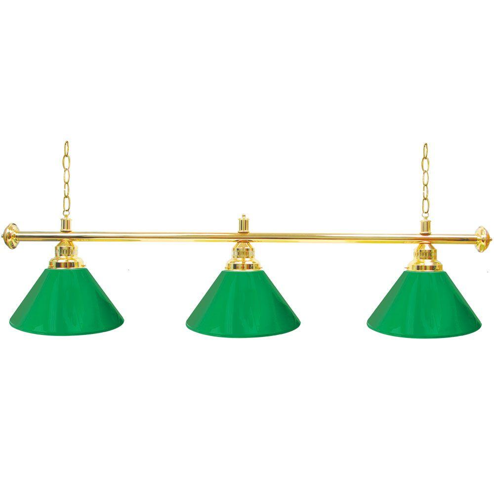 3 Light Green Billiard Lamp