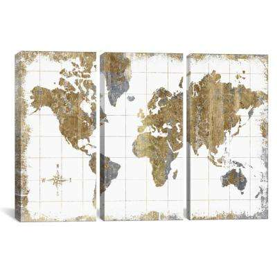 """""""Gilded Map"""" by All That Glitters Canvas Wall Art"""