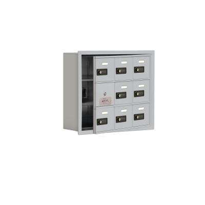 19100 Series 22.75 in. W x 18.75 in. H x 5.75 in. D 8 Doors Cell Phone Locker R-Mount Resettable Locks in Aluminum