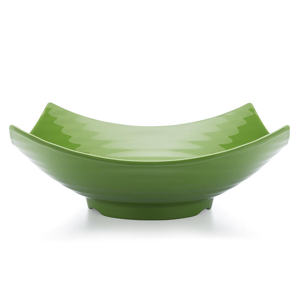 Zen 12.5 in. Green Melamine Serving Bowl