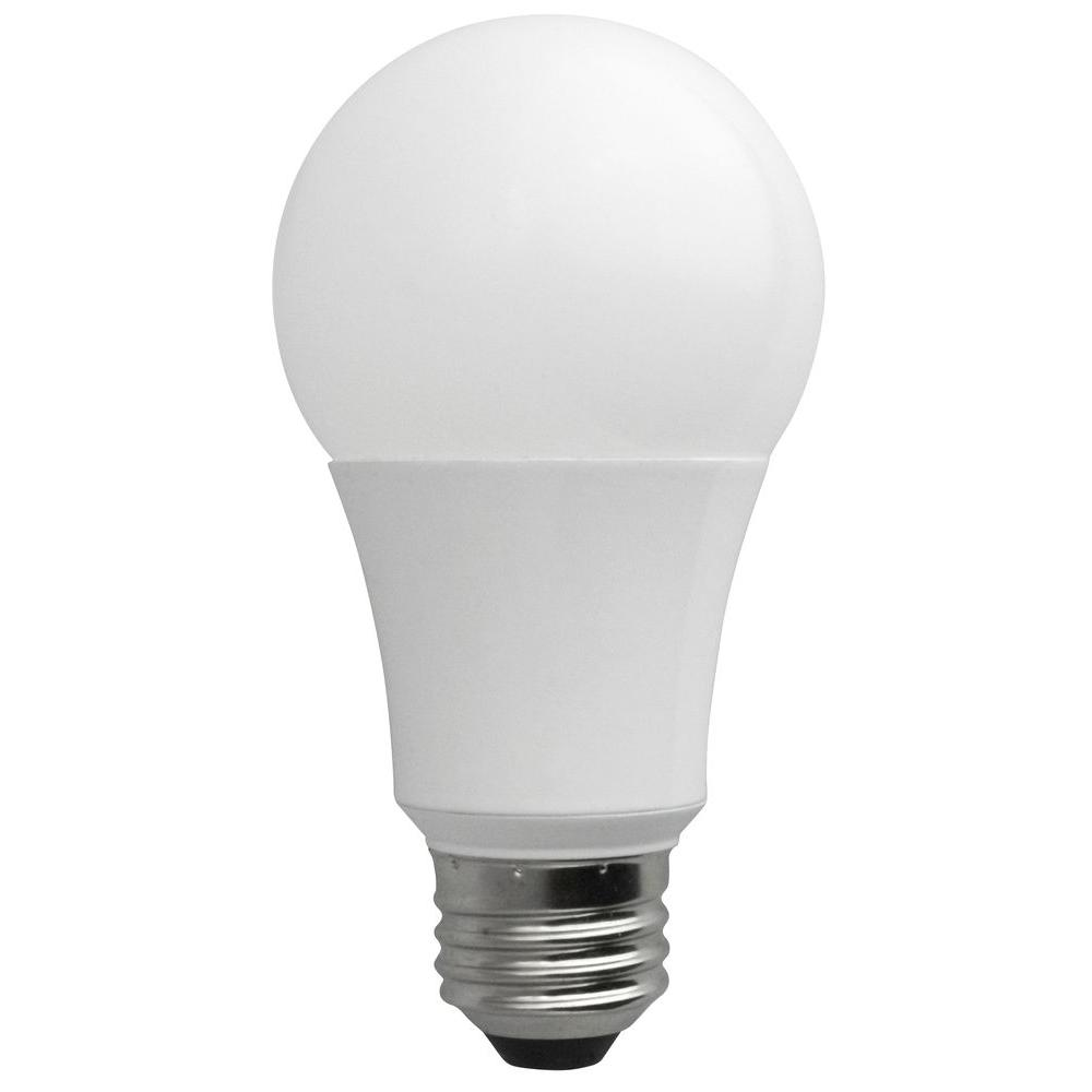 20w Led Bulb A19: TCP 60W Equivalent Soft White A19 Non-Dimmable LED Light