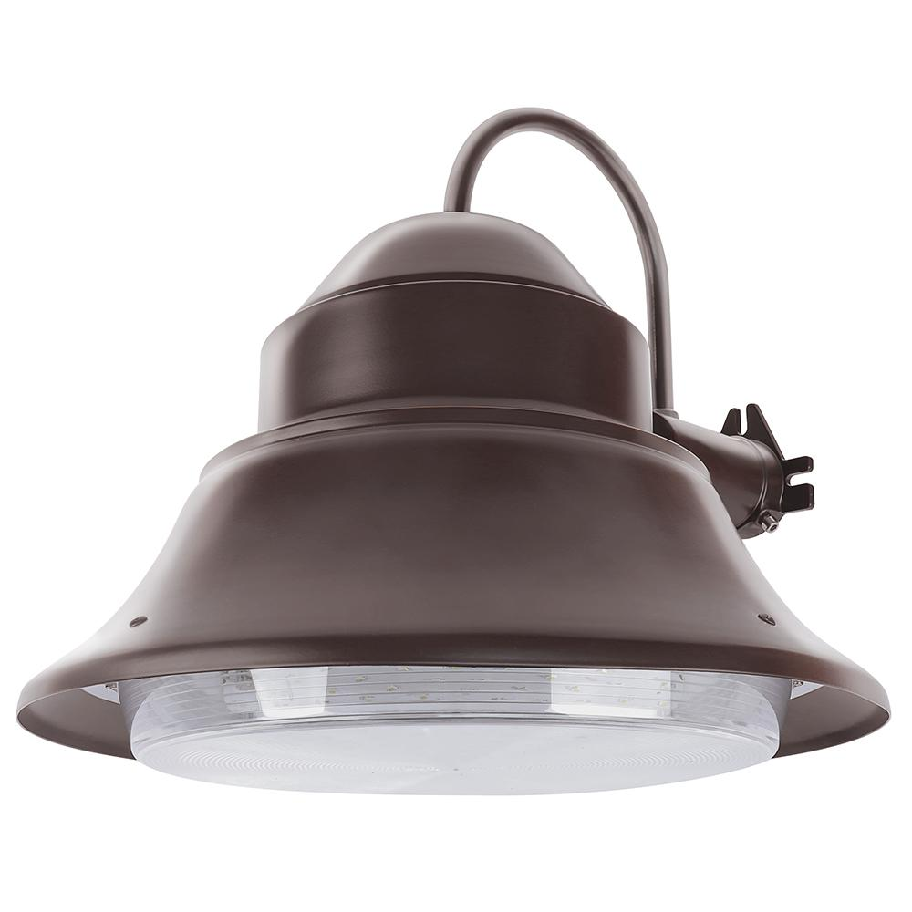 50-Watt Bronze Outdoor Integrated LED 13 in. Wall/Post Mount Security Area