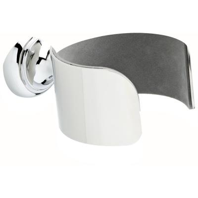Wall-Mounted Hair Dryer Holder in Polished Chrome