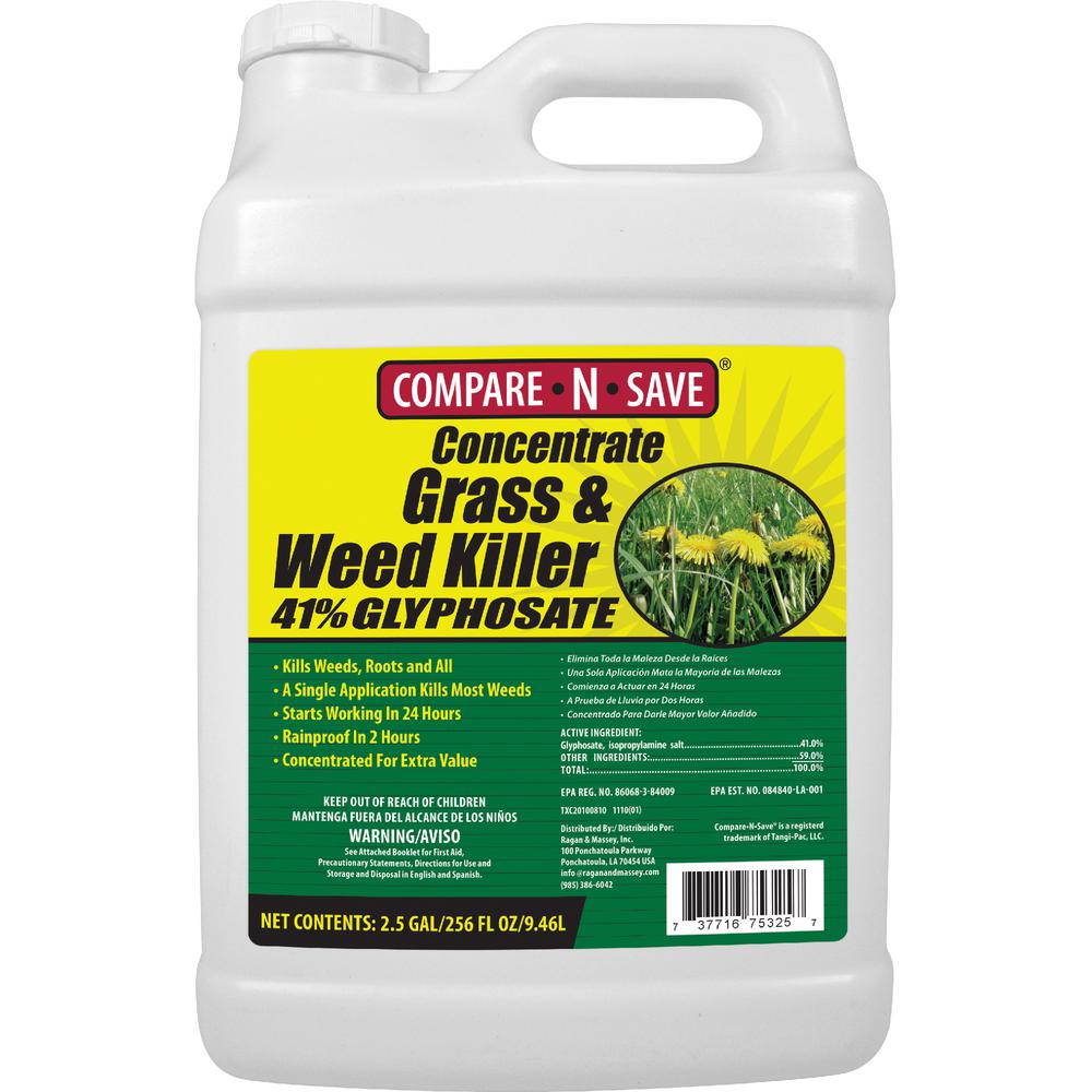 Compare-N-Save 2.5 Gal. Grass and Weed Killer Glyphosate ...