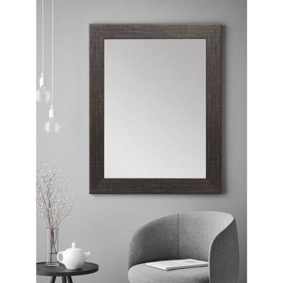Large Rectangle Black Hooks Modern Mirror (50 in. H x 32 in. W)