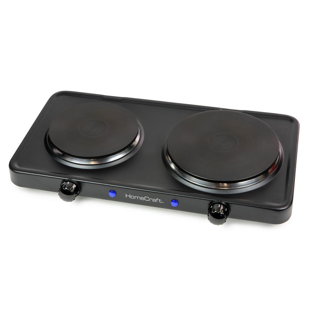 2-Burner 72 in. Black Hot Plate