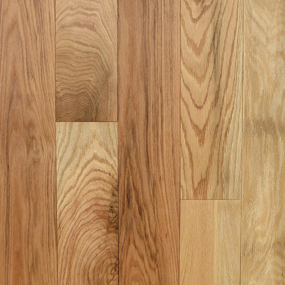 Blue ridge hardwood flooring red oak natural 3 8 in thick for Red oak hardwood flooring