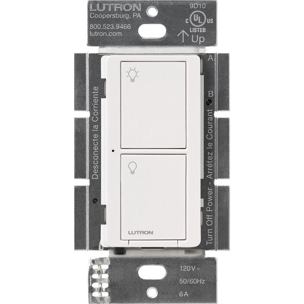 Lutron Caseta Wireless Smart Lighting Switch for All Bulb Types or Fans, White