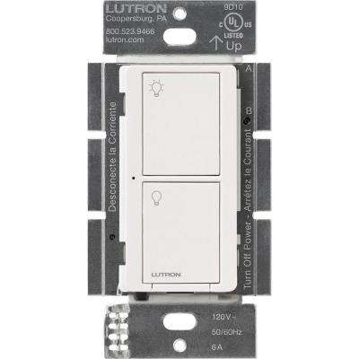 Caseta Wireless 6 Amp Multi-Location In-Wall Neutral Switch - White
