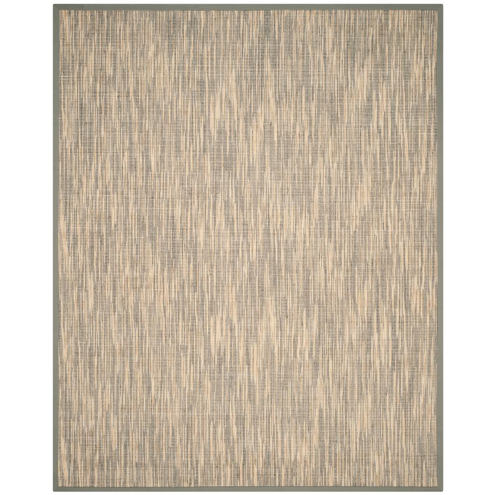 Natural Fiber Beige Gray 9 Ft X 12 Area Rug