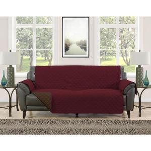 Fine Barrett Burgundy Brown Microfiber Reversible Couch Protector Andrewgaddart Wooden Chair Designs For Living Room Andrewgaddartcom