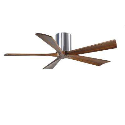 Irene 52 in. Indoor/Outdoor Polished Chrome Ceiling Fan with Remote Control and Wall Control