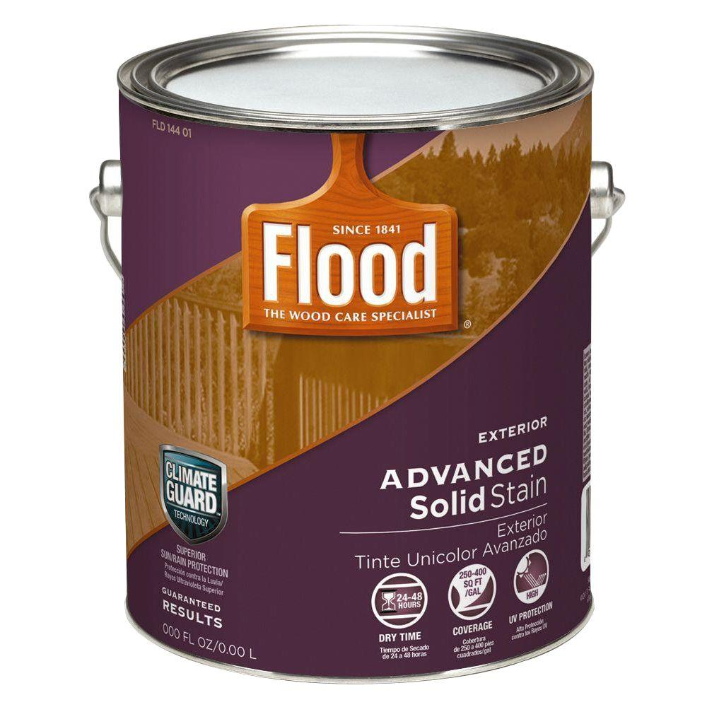Flood 1-gal. Advanced Solid Stain - True White