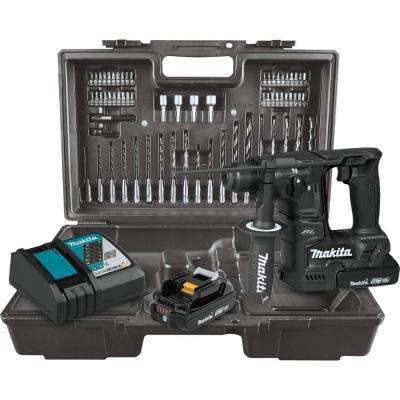 18V LXT Sub-Compact Brushless Cordless 11/16 in. Rotary Hammer Kit, accepts SDS-PLUS bits, 65 Pc. Accessory Set (2.0 Ah)