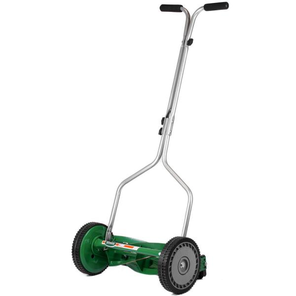 14 in. 5-Blade Manual Walk Behind Push Reel Mower