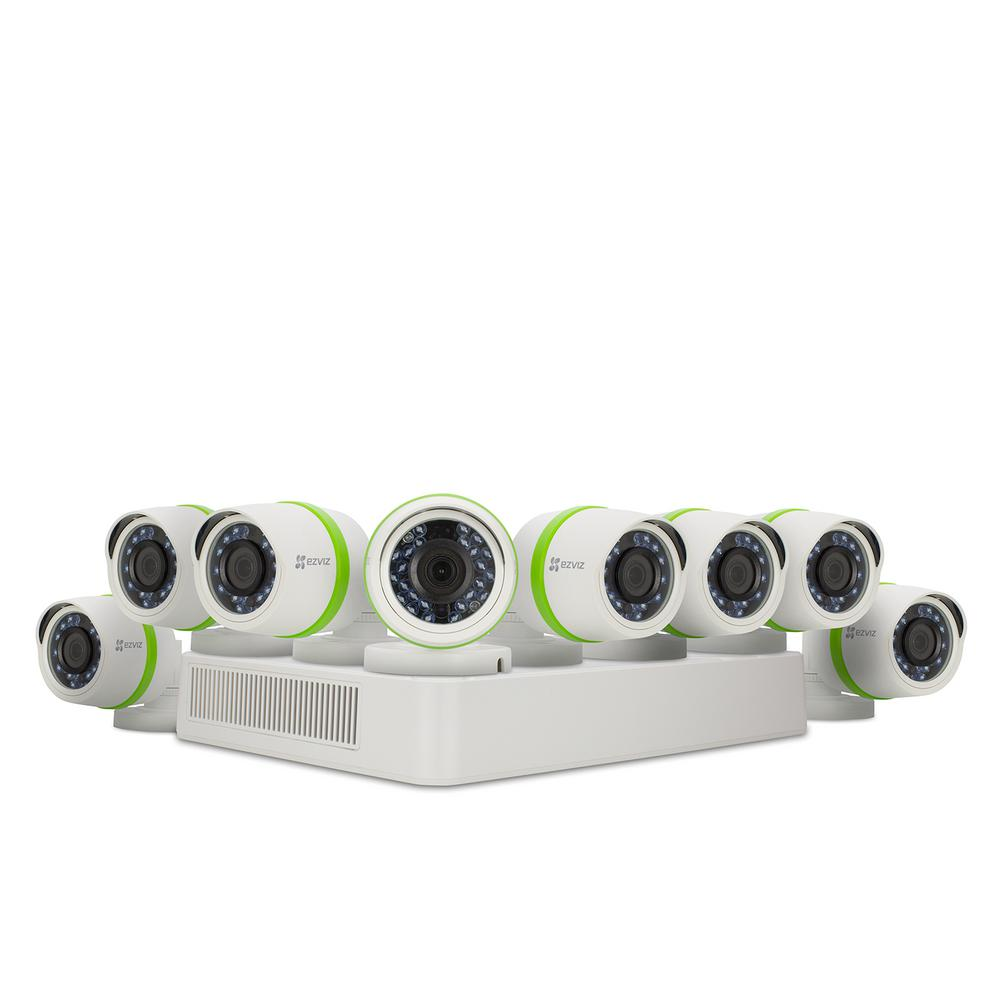1080p Security System 8 HD Cameras 16-Channel DVR 2TB HDD 100