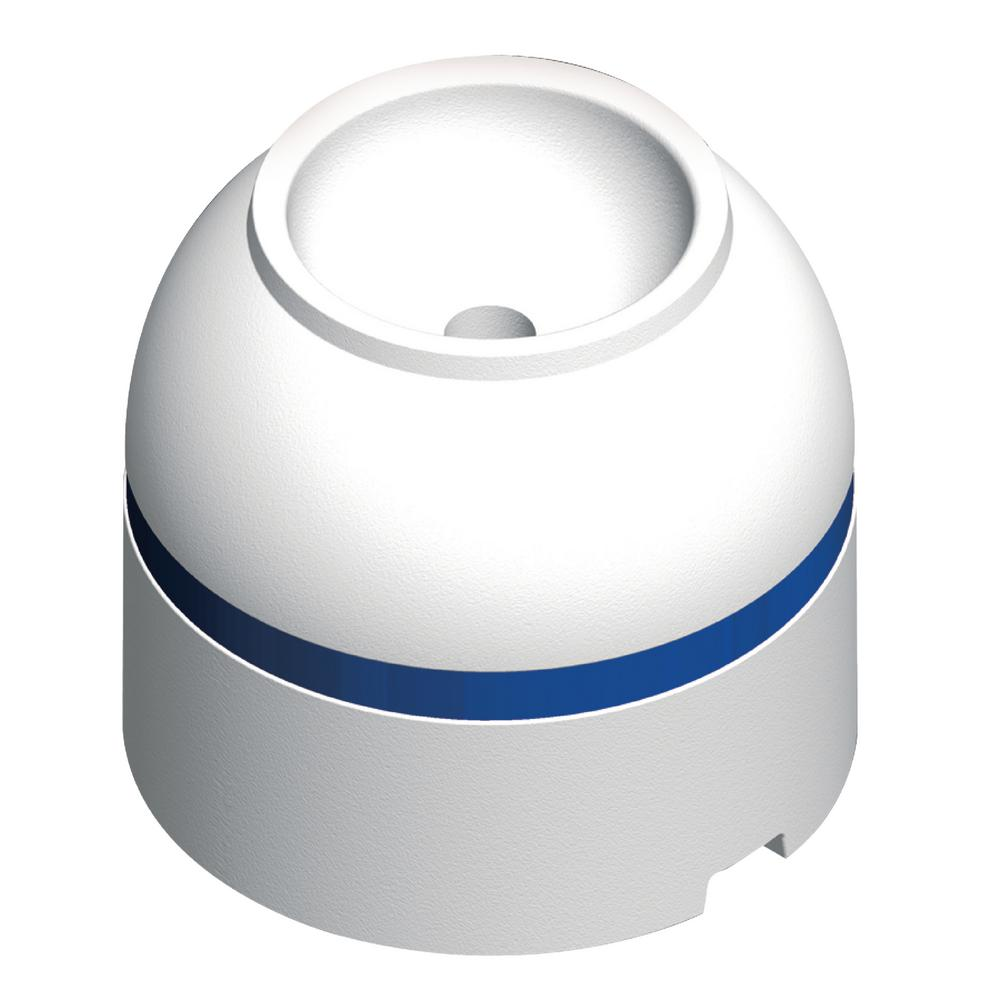 Jim-Buoy 18 in. Dia. Pendant Mooring Buoy with 2.5 in. Tube and 105 lb. Buoyancy in White with Blue Reflective Tape
