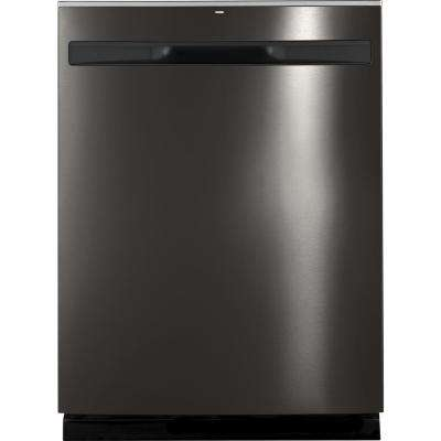 24 in. Top Control Built-In Tall Tub Dishwasher in Black Stainless Steel with Steam Cleaning