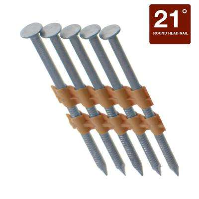 3-1/4 in. x 0.131 in. 21-Degree 304 Stainless Steel Ring Shank Nails (2000-Pack)