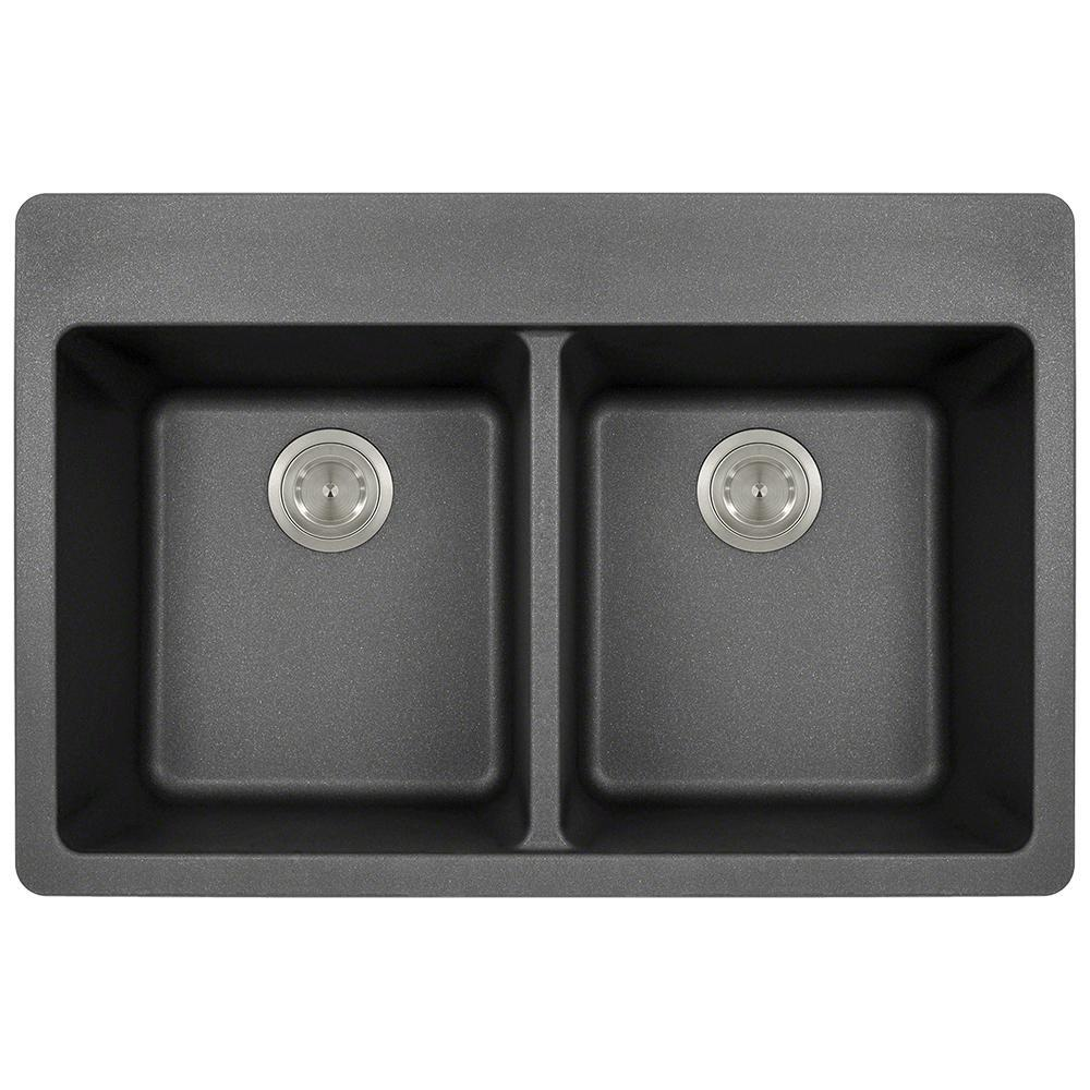 kitchen sinks direct mr direct drop in granite composite 33 in 4 equal 3004
