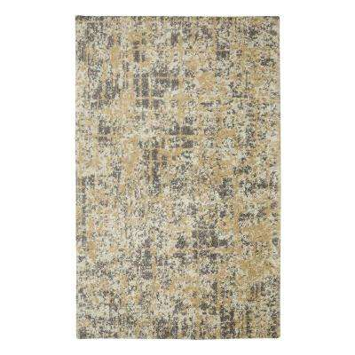 Abstract Maze Gray 8 ft. x 10 ft. Area Rug