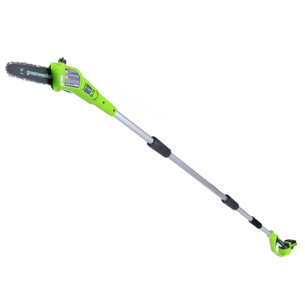 8 in. 24-Volt Cordless Pole Saw - Battery and Charger Not
