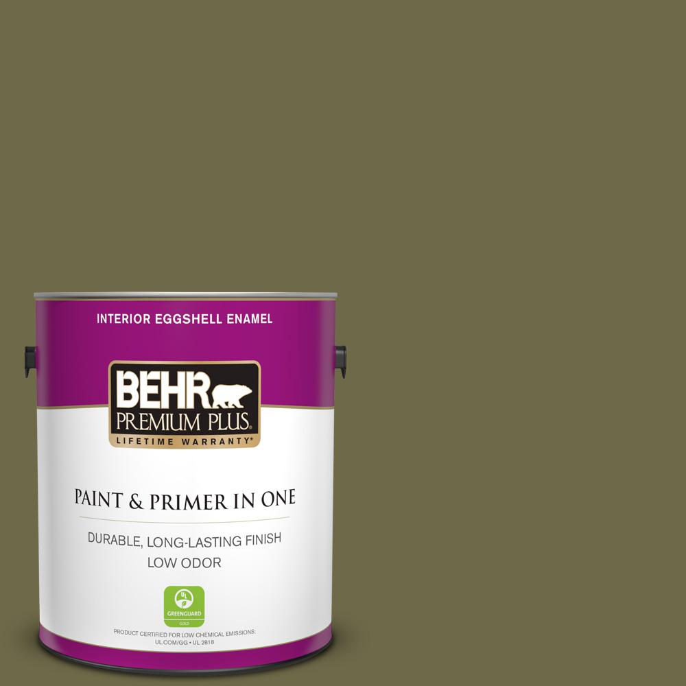 1 gal. #390F-7 Wilderness Eggshell Enamel Low Odor Interior Paint and