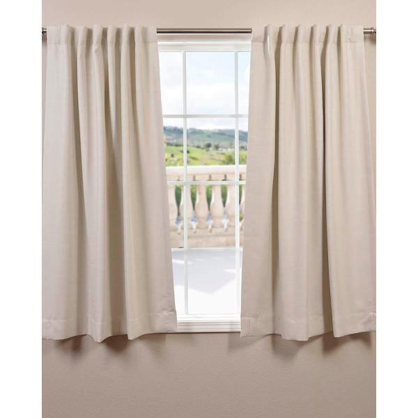 Semi-Opaque Oat Cream Bellino Blackout Curtain - 50 in. W x 63 in. L (Panel)