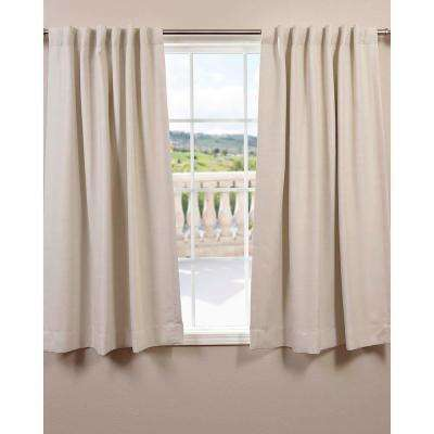 Semi-Opaque Cottage White Bellino Blackout Curtain - 50 in. W x 63 in. L (Panel)