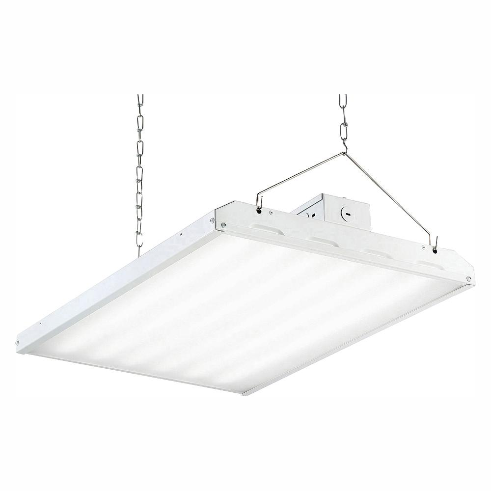 Envirolite 135 Watt 2 Ft White Integrated Led Backlit High Bay Hanging Light With 17420 Lumens 5000k