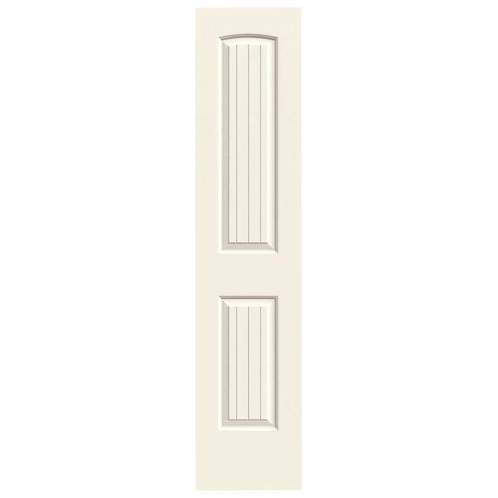jeld wen 18 in x 80 in santa fe vanilla painted smooth molded composite mdf interior door slab. Black Bedroom Furniture Sets. Home Design Ideas